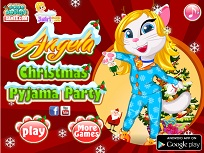 Angela si Petrecerea de Craciun in Pijamale