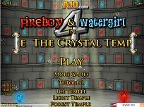 Baiatul de Foc si Fata de Apa in Templul de Cristal