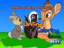 Bambi si Prietenii de Colorat