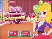Barbie Prepara Cheesecake cu Capsuni