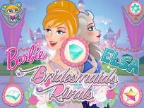 Barbie si Elsa Domnisoare de Onoare
