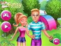 Barbie si Ken cu Cortul