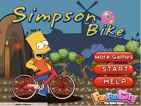 Bart Simpson pe Bicicleta