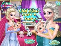 Batrana Elsa Ingrijeste Bebelusul