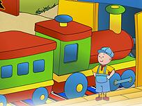 Caillou Conduce Trenul