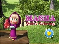 Coloreaza Online cu Masha