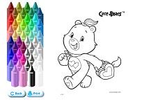Coloreaza cu Care Bears