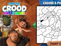 Coloreaza cu Familia Crood