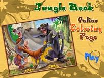 Coloreaza cu Mowgli si Prietenii