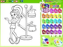 Coloreaza cu Polly Pocket