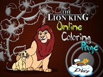 Coloreaza cu Regele Leu