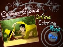Curiosul George de Colorat