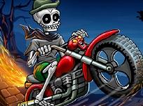 Scheletul pe Motocicleta