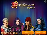 Joc de Memorie cu Descendentii