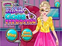 Elsa Vizita la Doctorul de Ochi