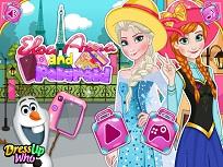 Elsa si Anna Poze in Paris