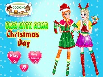 Elsa si Anna in Ziua Craciunului