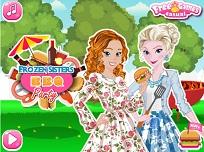 Elsa si Anna la Gratar