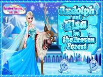 Elsa si Sven in Padure