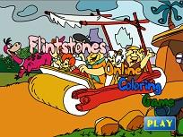 Familia Flintstone de Colorat