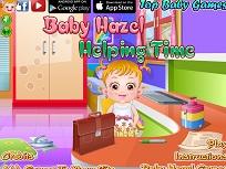 Fetita Hazel Munceste prin Casa