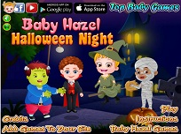 Fetita Hazel de Halloween