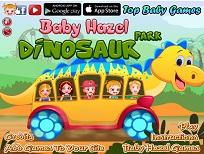 Fetita Hazel in Parcul Dinozaurilor