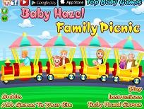 Fetita Hazel cu Familia la Picnic