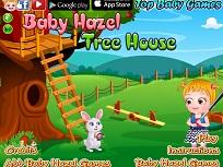 Fetita Hazel si Casuta din Copac