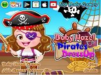 Fetita Hazel si Costumul de Pirat