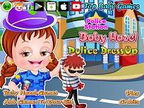 Fetita Hazel si Costumul de Politist