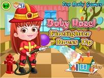 Fetita Hazel si Costumul de Pompier