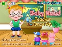 Fetita Hazel si Tinuta de Profesoara