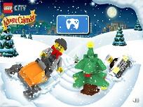 Figurine Lego cu Snowmobilul
