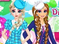 Elsa si Anna de Imbracat la Scoala