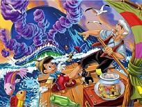 Gepetto si Pinocchio pe Pluta