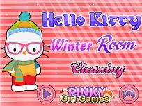 Hello Kitty si Curatenia de Iarna