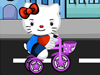 Hello Kitty Accident cu Bicicleta