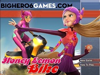 Honey Lemon pe Motocicleta