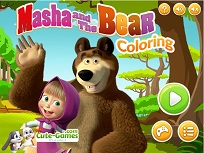 Joc de Colorat cu Masha si Ursul