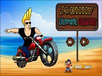 Johnny Bravo cu Motocicleta
