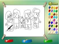 Lego Scooby Doo de Colorat
