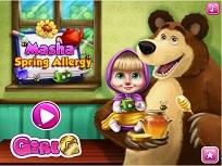 Masha si Alergiile de Primavara