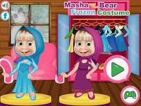 Masha si Costumul Frozen