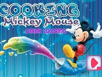 Mickey Mouse Gateste de Colorat