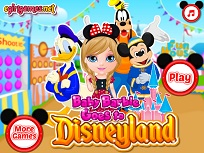 Micuta Barbie la Disneyland