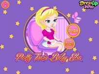 Micuta Elsa Invata Sa Mearga la Toaleta