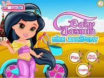 Micuta Jasmin Accident cu Bicicleta