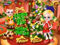 Micutii Barbie si Ken de Craciun