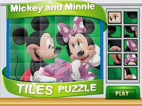 Minnie si Mickey Puzzle